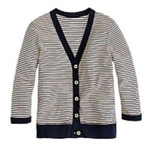 J Crew Perfect-fit stripe cardigan